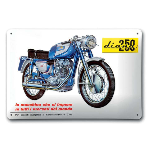 DUCATI TIN SIGN - DIANA 250
