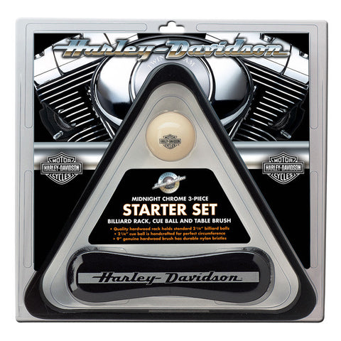 HARLEY-DAVIDSON® MIDNIGHT CHROME BILLIARDS STARTER SET HDL-10147