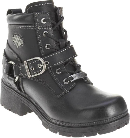 Harley-Davidson® Women's Tegan 4-Inch Black Lace-Up Boots.