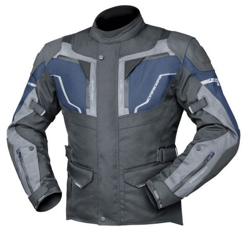 DRIRIDER NORDIC 4 MEN'S JACKET – BLACK / COBALT BLUE