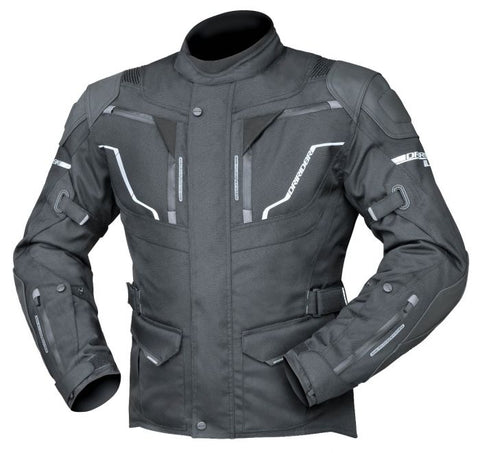 DRIRIDER NORDIC 4 MEN'S JACKET – BLACK / BLACK