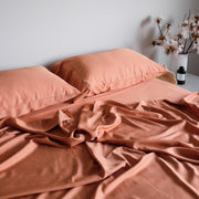 Bamboo sheets rust terracotta