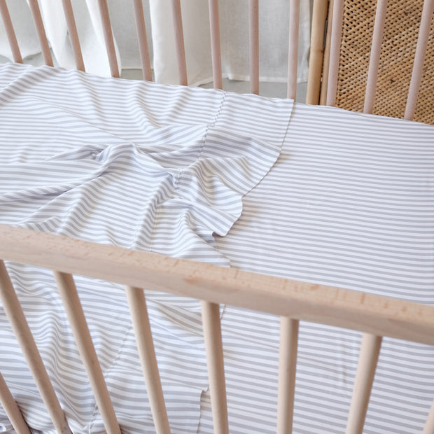 Stripe cot sheets