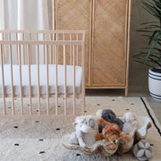 Silver fitted bamboo cot sheet