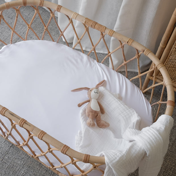 100% Organic Bamboo Bassinet Fitted Sheet