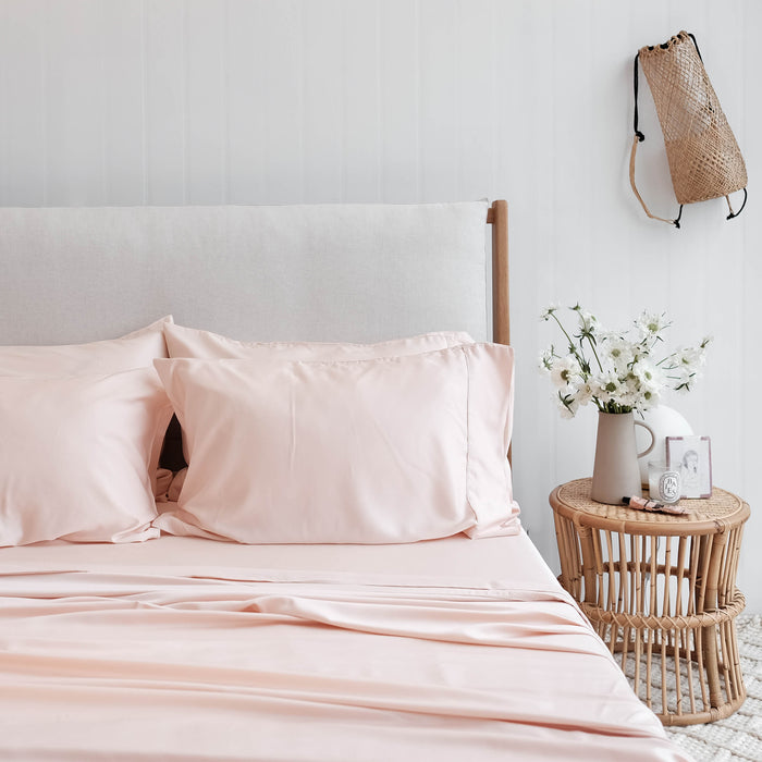 100% Organic Bamboo Sheet Set Blush