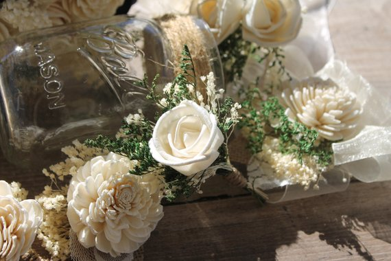 Ivory Single Rose Boutonniere