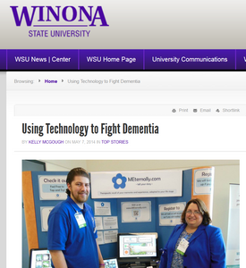 "5/7/14 - Winona State University, ""Using Technology to Fight Dementia"""