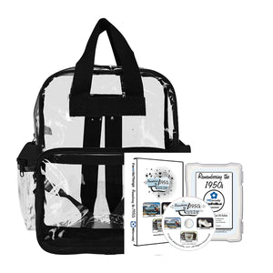 Library/Facility BACKPACK - Reminiscence Therapy - The 1950s DVD & Photo/Activity Cards Kit