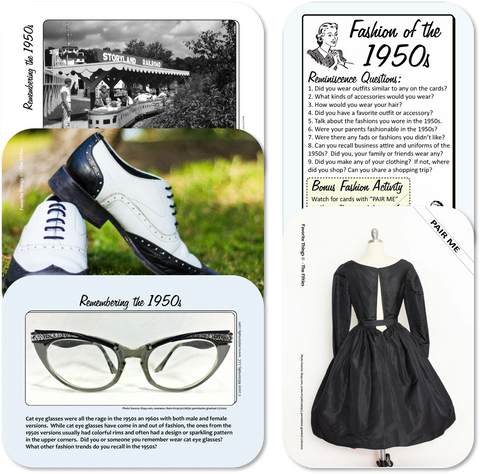 Reminiscence Therapy - The 1950s Collection Photo and Activity Cards