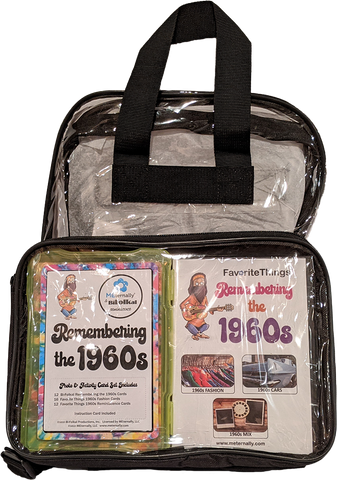 Library/Facility BACKPACK - Reminiscence Therapy - The 1960s DVD & Photo/Activity Cards Kit