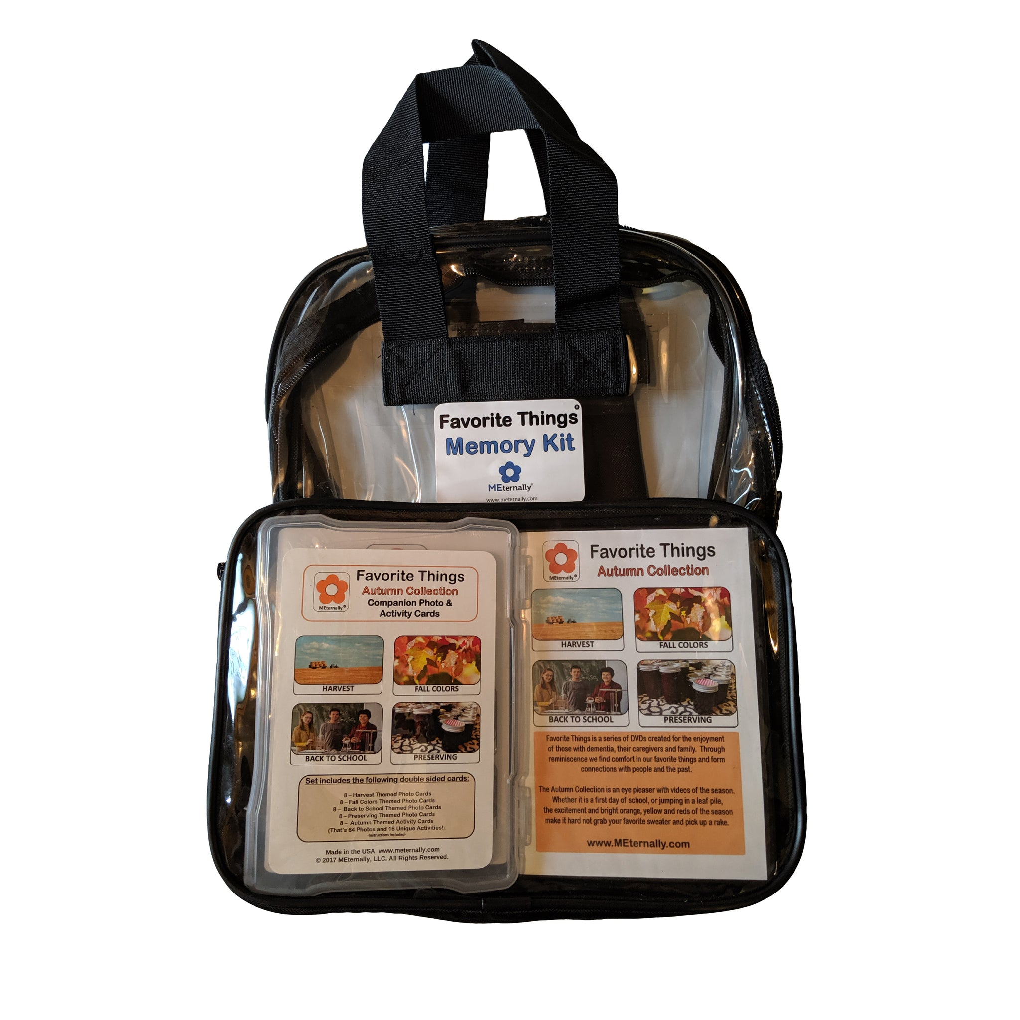 Library/Facility BACKPACK - Reminiscence Therapy - Autumn DVD & Photo/Activity Cards