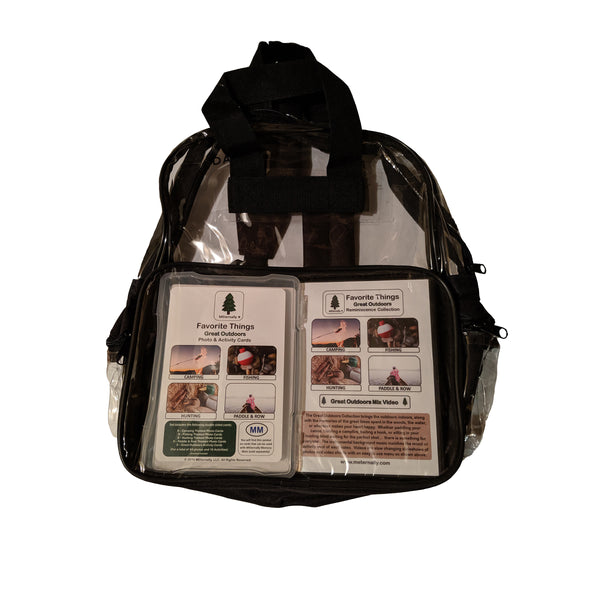 Library/Facility Clear Backpack - Build your own reminiscence kit