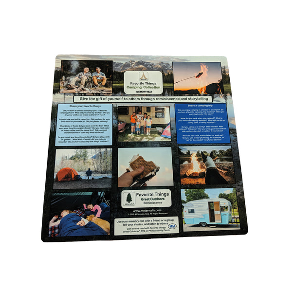 Great Outdoors Reminiscence Therapy Kit - Photo/Activity Card Kit with 24 x 24 Mega Memory Mats in Storage Case