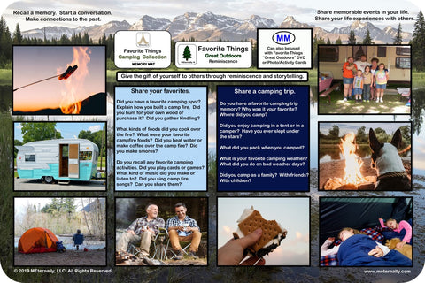 Reminiscence Therapy - 12 x 18 Great Outdoors Collection VALUE Memory Mat (Camping)