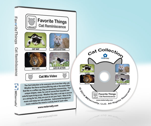Library/Facility BACKPACK - Reminiscence Therapy - Cats DVD & Photo/Activity Cards Kit