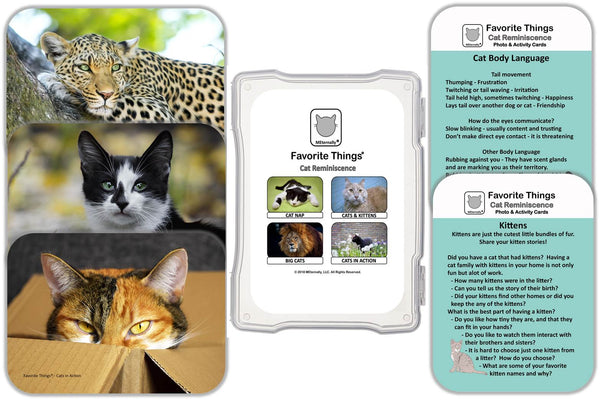 Library/Facility Zip Pack - Reminiscence Therapy - Cats DVD & Photo/Activity Cards Kit