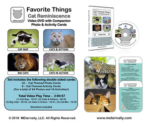 Library Pack - Reminiscence Therapy - Cats DVD & Photo/Activity Cards Kit