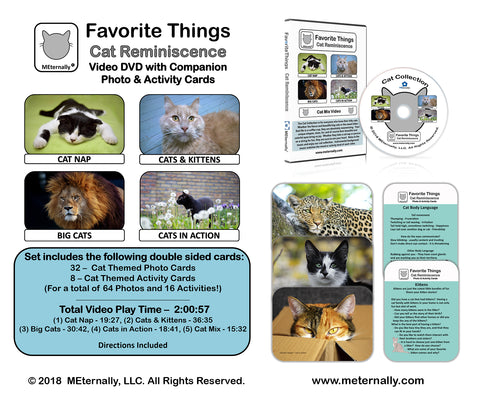 Library/Facility Pack - Reminiscence Therapy - Cats DVD & Photo/Activity Cards Kit