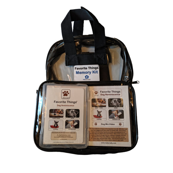 Library/Facility BACKPACK - Reminiscence Therapy - Dogs DVD & Photo/Activity Cards Kit