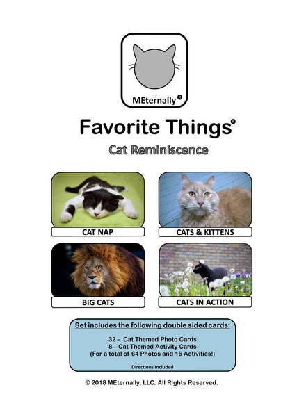 Reminiscence Therapy - Cat Collection Photo and Activity Cards