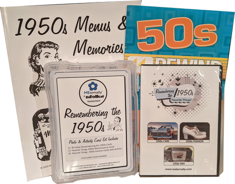 Library/Facility Pack - DELUXE Reminiscence Therapy - The 1950s DVD & Photo/Activity Cards Kit