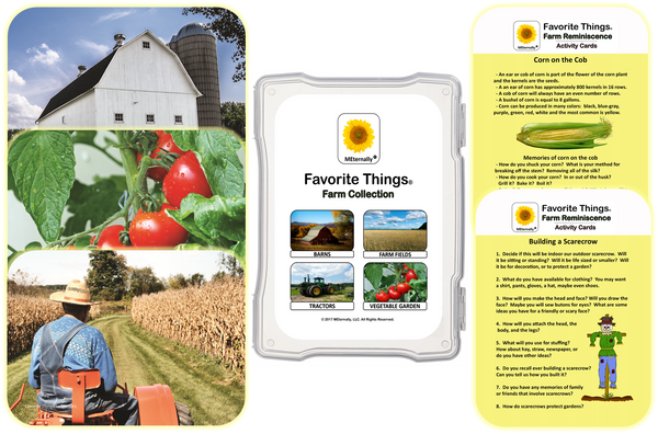 Library/Facility BACKPACK - Reminiscence Therapy - Farm DVD & Photo/Activity Cards Kit