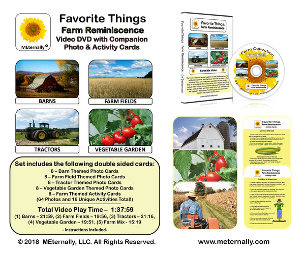 Library/Facility Pack - Reminiscence Therapy - Farm DVD & Photo/Activity Cards Kit