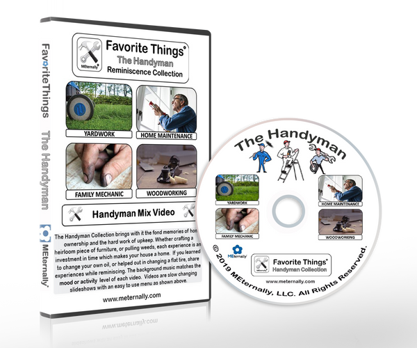 Library/Facility Zip Pack - Reminiscence Therapy - Handyman DVD with Photo & Activity Cards