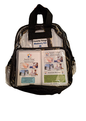 Library/Facility BACKPACK - Reminiscence Therapy - Homemaker DVD with Photo and Activity Cards Kit