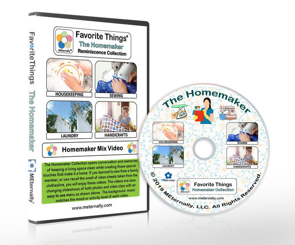 Library/Facility Pack - Reminiscence Therapy - Homemaker DVD with Photo and Activity Cards Kit