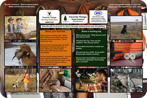 Reminiscence Therapy - 12 x 18 Great Outdoors Collection VALUE Memory Mat (Hunting)