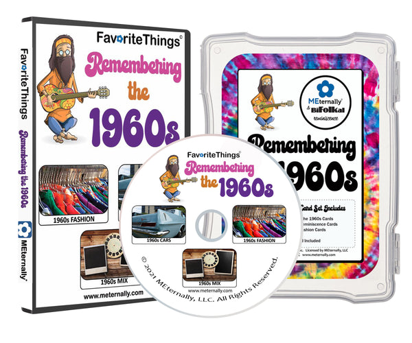 Library/Facility Pack - DELUXE Reminiscence Therapy - The 1960s DVD & Photo/Activity Cards Kit