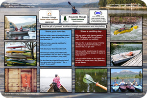 Reminiscence Therapy - 12 x 18 Great Outdoors Collection VALUE Memory Mat (Paddle & Row)