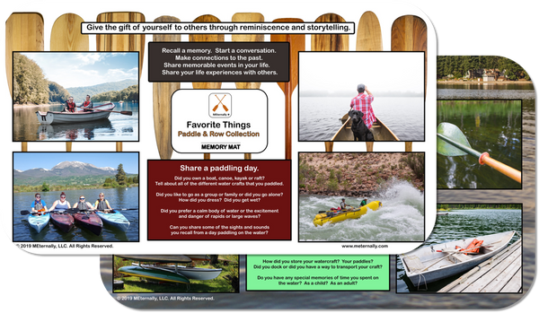 Reminiscence Therapy - 14 x 24 Great Outdoors Collection MEGA Memory Mat (Paddle & Row)