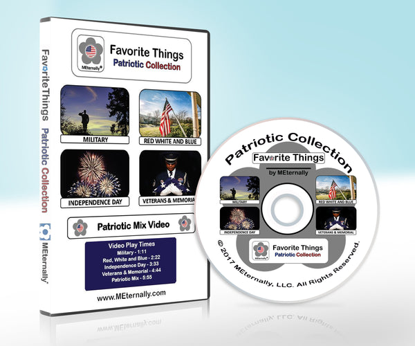 Library Pack - Reminiscence Therapy - Patriotic DVD & Photo/Activity Cards Kit