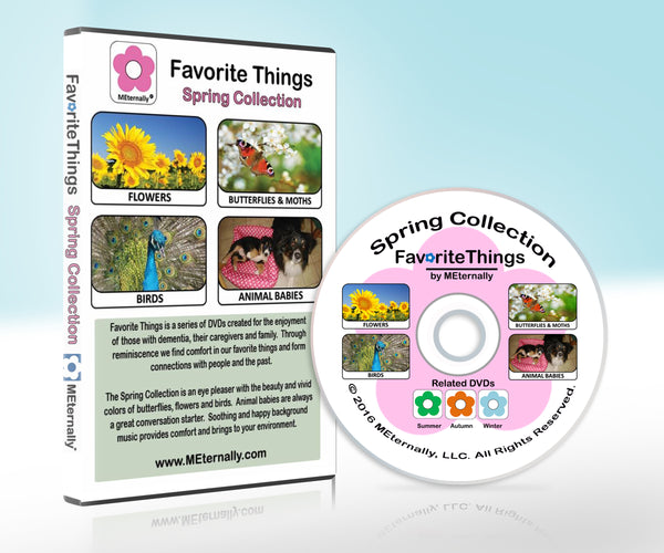 Library/Facility Zip Pack - Reminiscence Therapy - Spring DVD & Photo/Activity Cards Kit