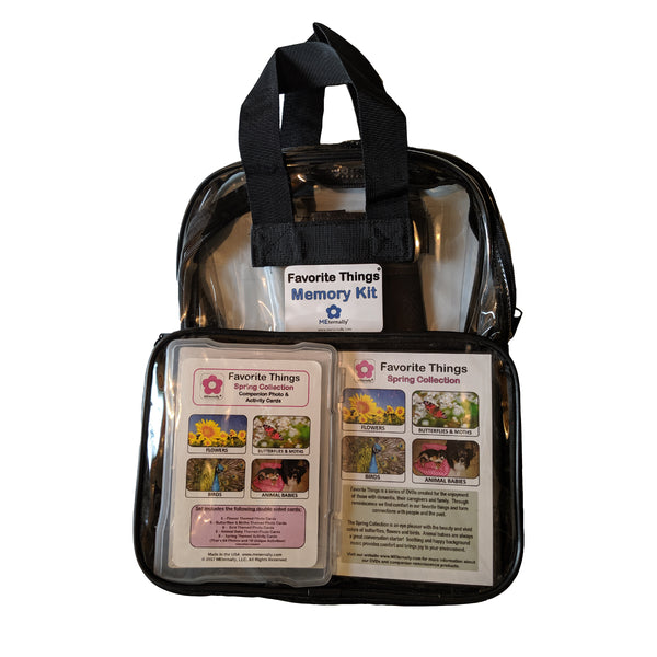 Library/Facility BACKPACK - Reminiscence Therapy - Spring DVD & Photo/Activity Cards Kit