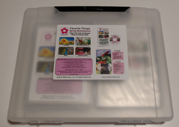 Library/Facility Pack - Reminiscence Therapy - Spring DVD & Photo/Activity Cards Kit