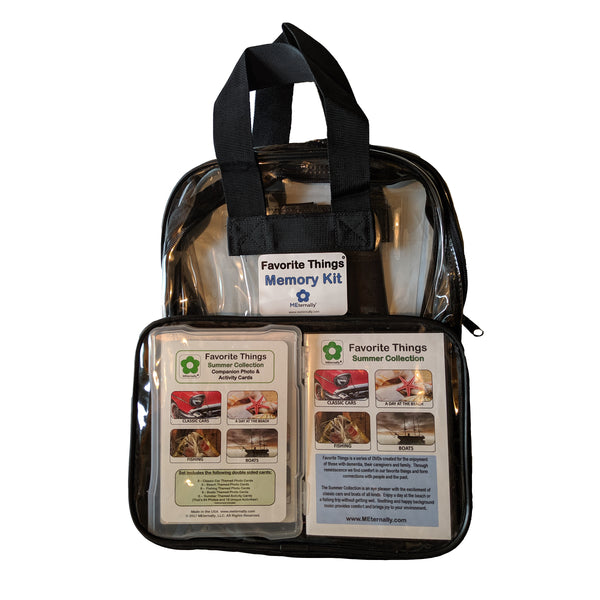 Library/Facility BACKPACK - Reminiscence Therapy - Summer DVD & Photo/Activity Cards Kit