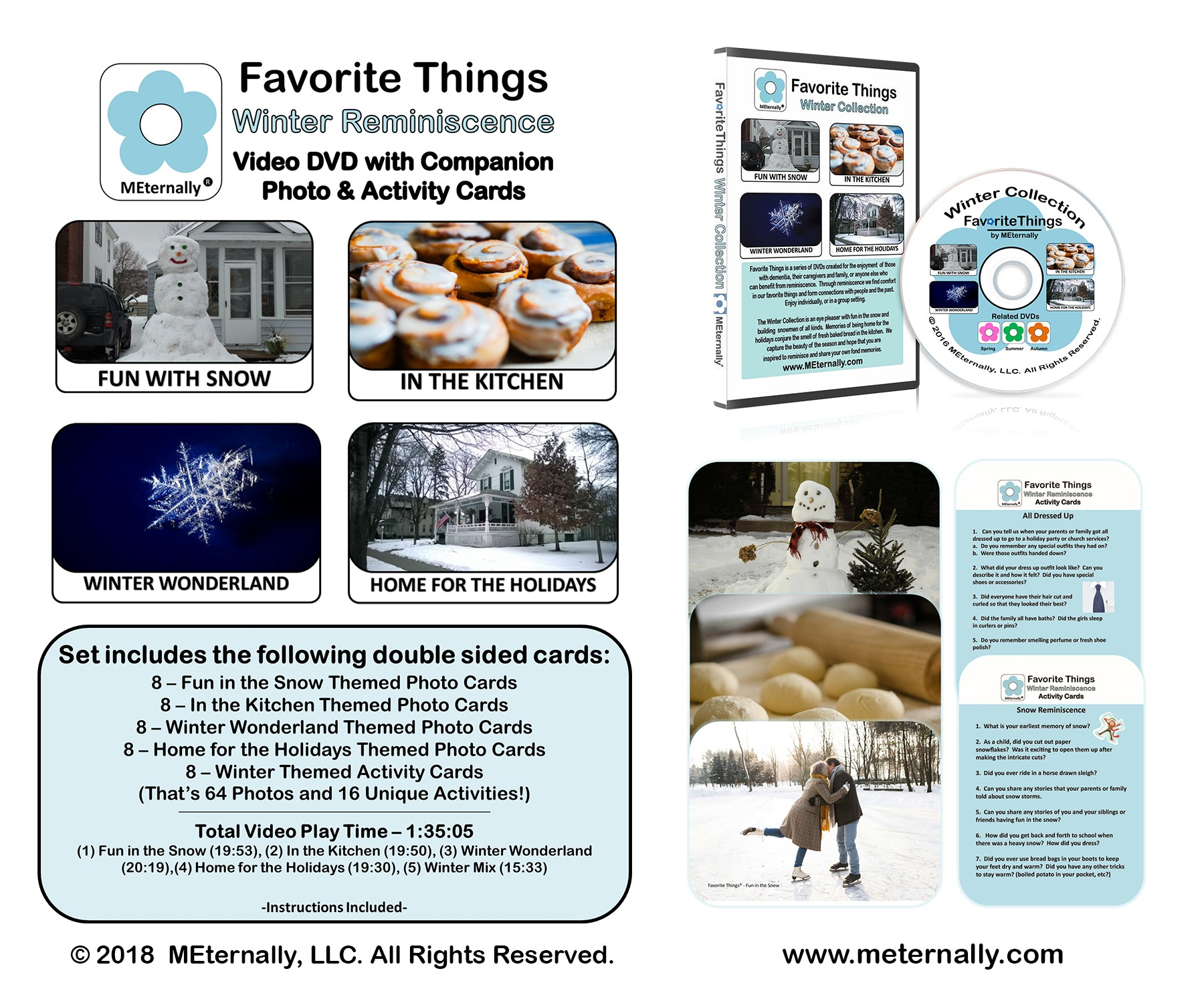 Library/Facility Pack - Reminiscence Therapy - Winter DVD & Photo/Activity Cards Kit