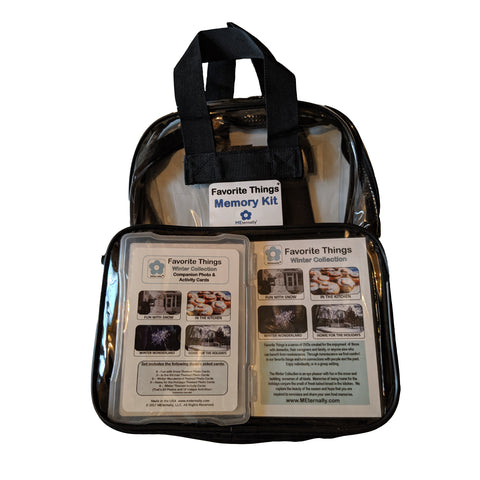 Library/Facility BACKPACK - Reminiscence Therapy - Winter DVD & Photo/Activity Cards Kit