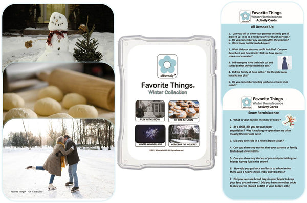 Library/Facility Zip Pack - Reminiscence Therapy - Winter DVD & Photo/Activity Cards Kit