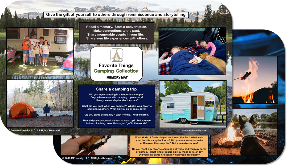 Reminiscence Therapy - Great Outdoors Collection 14 x 24 MEGA Memory Mat (Camping)