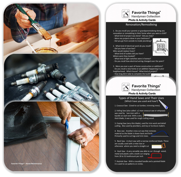 Reminiscence Therapy - Handyman DVD with Photo & Activity Cards Kit