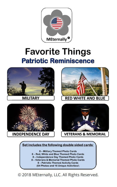 Library/Facility Zip Pack - Reminiscence Therapy - Patriotic DVD & Photo/Activity Cards Kit