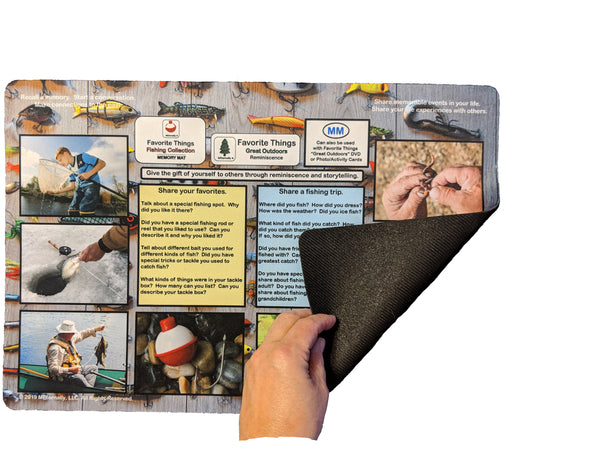 Reminiscence Therapy - 12 x 18 Great Outdoors Collection VALUE Memory Mat (Fishing)