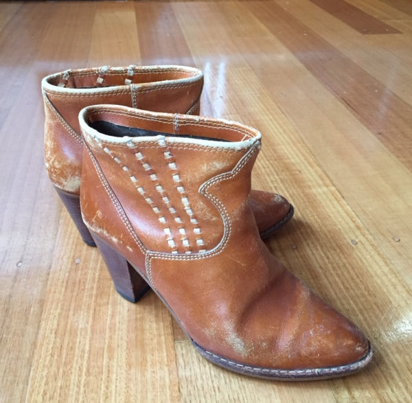 Western tan boots