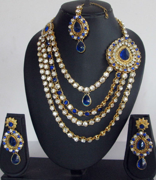Bridal Blue Crystal Set - Shikifashion