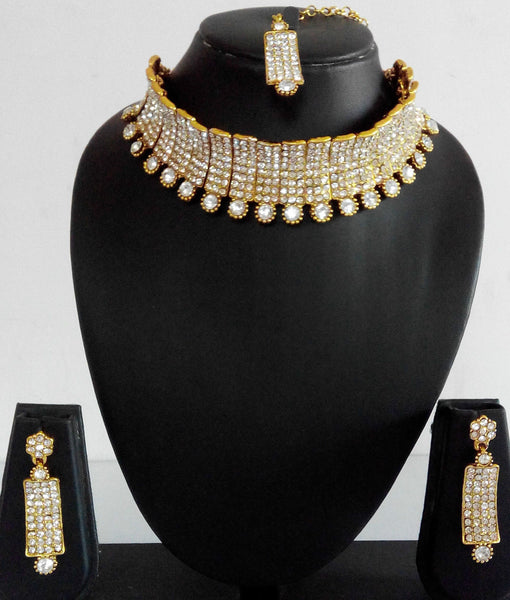 Bridal Gold Crystal Set - Shikifashion